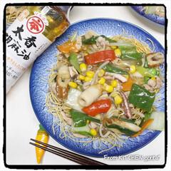 中華料理/中華丼/中華飯/皿うどん/応援よろしくお願いいたします📣/レシピコンテスト/... 味の決め手は胡麻油‼️我が家の皿うどん🇨…(1枚目)
