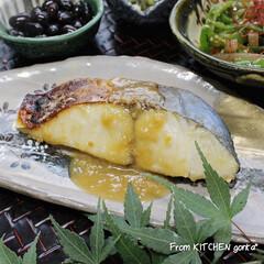 たち吉/和食器のある暮らし/食器好きな人と繋がりたい/料理好きな人と繋がりたい/鰆/鰆の西京焼き/...  鰆の西京焼き🐟  こんにちは🌞 今日…(1枚目)