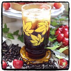 アイスコーヒー/コーヒー焙煎機/タルト/さくらんぼタルト/The Roastアンバサダー/The Roast/... さくらんぼ🍒のタルトwith美味しいアイ…(4枚目)