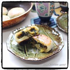 アメブロ/料理好きな人と繋がりたい/手軽/簡単レシピ/簡単/フライパン/... 野沢菜のおやき♬  おはようございま…