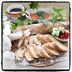 サフ インスタントドライイースト / 500g TOMIZ/cuoca(イースト、酵母)を使ったクチコミ「フランスパン🥖to北海道の美味しいバター…」
