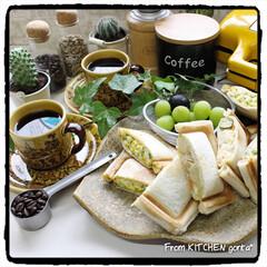 珈琲焙煎機/コーヒーのある暮らし/コーヒー焙煎機/たまごサンド/ポテトサラダ/ビタントニオ/... The Roastでいただく極上coff…