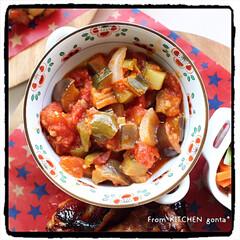 オーブン料理/オーブンフル回転/おうちごはん/野菜のマリネ/ラタトゥイユ/ローストチキン/... ローストチキン🐓withラタトゥイユ🇫🇷…(4枚目)