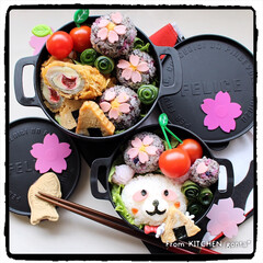 料理好きな人と繋がりたい/手毬ずし/花見弁当/桜弁当/さくらパンダ/みんなのブログ/... さくらパンダ、花見に行く…弁当🌸  …
