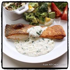 NE-BS2600/ビストロアンバサダー/ビストロ/クックパッドレシピ/半熟卵とブロッコリーのアボカドサラダ/キノコのマリネ/... 鮭のチーズソテー🧀レモン香る🍋ヨーグ…(2枚目)