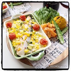 ■キューピー マヨネーズ 450g(その他調味料、料理の素、油)を使ったクチコミ「サーモンのオーブン焼き♬toかぼちゃのサ…」
