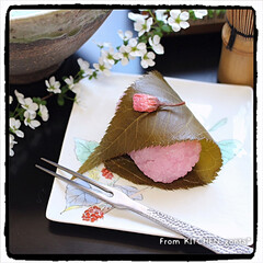 食べれずじまい/リベンジ/道明寺粉/関西風さくら餅/さくら餅/gonta*/... リピ②🌸関西風さくら餅🌸  おはよう…