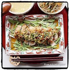 赤絵/たち吉/器好きな人と繋がりたい/料理好きな人と繋がりたい/中華料理/中華御膳/... 油淋鶏と中華コーンスープ🇨🇳  おは…(2枚目)