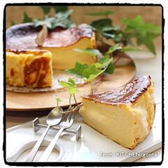バスクチーズケーキ/レシピ掲載中/キッチンコラム/Panasonic/キッチンポケット/gonta*/... バスクチーズケーキ🇪🇸  おはようご…