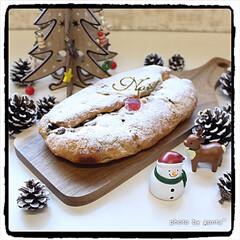 美味しく今年も頂きますね/ありがとう/いただき物/贈り物/クリスマスプレゼント/クリスマスギフト/... シュトーレンママgift🎁シュトーレン🎄…