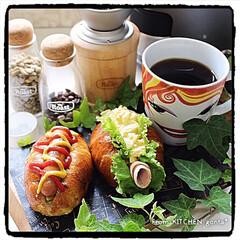 ブランチ/キッチンコラムにrecipe掲載中/関西風ホットドッグ/卵サンド/ホットドッグ/極上のコーヒー/... 関西風ホットドッグ&卵サンドと極上コーヒ…