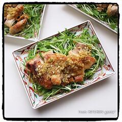 オーブンでパリッパリ/揚げない油淋鶏/手抜きだけど美味しく/ビストロ/ユーリンチー/油淋鶏/... 和風⁉︎油淋鶏♪  こんにちは! 令和も…