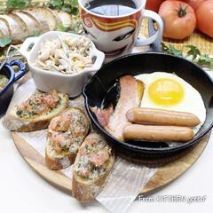 TOMIZ/富澤商店/パン作り好きな人と繋がりたい/パン作り/料理好きな人と繋がりたい/栃木県産トマト/... 栃木産トマトdeブルスケッタ🍅  こ…(1枚目)