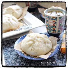 味噌作り体験/ハナマルキ/大阪の銘店風/551風豚まん/豚まん/簡単レシピ/... 豚まん🐷deランチタイム🍽  おはよ…