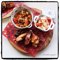 オーブン料理/オーブンフル回転/おうちごはん/野菜のマリネ/ラタトゥイユ/ローストチキン/... ローストチキン🐓withラタトゥイユ🇫🇷…(2枚目)