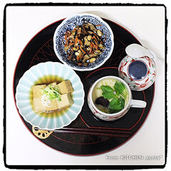 和食器/和食/和ンプレート/和御膳プレート/ひじきの煮物/厚揚げの煮物/... ゆり根入り茶碗蒸しde和御膳プレート🍽…