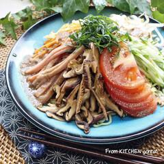 和食器のある暮らし/食器好きな人と繋がりたい/料理好きな人と繋がりたい/夏野菜/おうちごはん/簡単レシピ/... 冷やし中華🎐胡麻ダレversion  …(1枚目)
