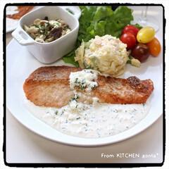 料理好きな人と繋がりたい/ヨーグルトソースかげはレモンが決めて🍋/NE-BS2600/自動調理モード/鮭のソテー/鮭のチーズソテー/... 鮭のチーズソテー🧀レモン香る🍋ヨーグルト…(2枚目)