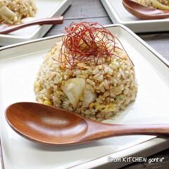 白菜漬/東海漬物/和風チャーハン/乃りたけ/和食器のある暮らし/食器好きな人と繋がりたい/... 白だし仕立て 割烹白菜漬で作る✨和風チャ…(1枚目)