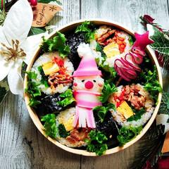 クリスマス弁当/キンパ弁当/キンパ/クリスマス2019/お弁当/キッチン/... キンパ弁当