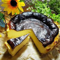 バスク風チーズケーキ/バスクチーズケーキ/雨季ウキフォト投稿キャンペーン/令和の一枚/フォロー大歓迎/至福のひととき/... バスクチーズケーキ