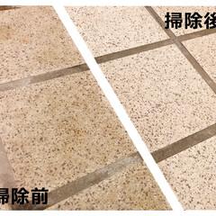 お風呂/玄関/タイル/掃除/家事/床/... こんなにきれいに♪ お風呂や玄関の細かい…