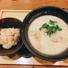 大阪/北新地/ランチ/うどん/麺/クリーム/... 大阪 北新地「つるとんたん」の鶏クリーム…