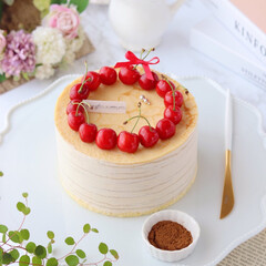 おうちカフェ/crepe/cake/sweets/Coffee/Cafe/... ☕️コーヒーミルクレープ  カフェパウダ…(1枚目)