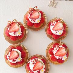 Cafe/STRAWBERRY/sweets/cake/おうちカフェ/苺タルト/... 🍓いちごのミニタルト  ひとくちサイズの…(2枚目)