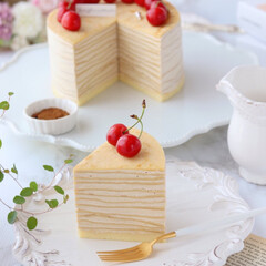 おうちカフェ/crepe/cake/sweets/Coffee/Cafe/... ☕️コーヒーミルクレープ  カフェパウダ…(3枚目)