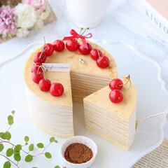 おうちカフェ/crepe/cake/sweets/Coffee/Cafe/... ☕️コーヒーミルクレープ  カフェパウダ…(2枚目)