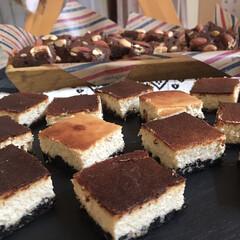 スイーツ/home made/手作りお菓子/一口チーズケーキ/ブラウニー/チーズケーキ/... お菓子作り🍭 酒粕チーズケーキ ブラウニー