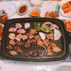 お肉/ホームパーティー/おうちごはん/おうち焼肉/焼肉/平成最後/... おうち焼肉パーティー🥩