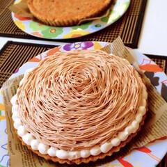 誕生日ケーキ/誕生日/タルト/モンブランタルト/手作りお菓子/cake/... モンブラン🎂