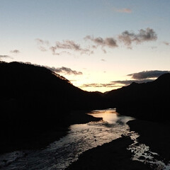 久しぶりだから/夕焼け/自然/川に写る夕焼け 🍀ようやく夕焼け🍀  16:50 もう少…