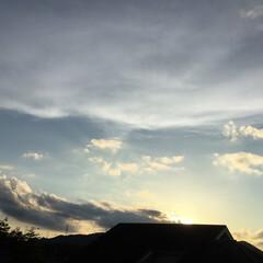 いま空/夕焼け雲/夕暮れ時/夕焼け風景 日没 18:50 今日も一日お疲れ様でし…(3枚目)