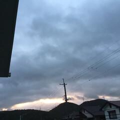いま空/夕暮れ風景/夕焼け大好き 日没 17:32 今日も一日お疲れ様でし…