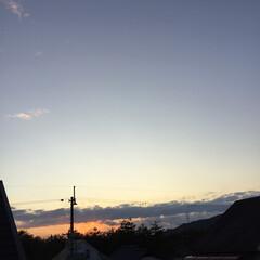 いま空/夕暮れ風景/夕焼け大好き/定点観測 日没 16:55 今日も一日お疲れ様でし…(3枚目)
