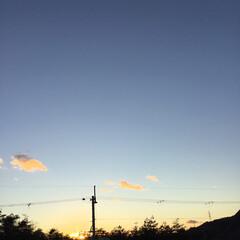 いま空/夕暮れ風景/夕焼け大好き/今日の夕焼け/定位置観測 日没 16:58  2020 激動の一年…