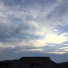 夕焼け雲/夕暮れ/夕焼け 日没 19:17 今日も一日お疲れ様でし…
