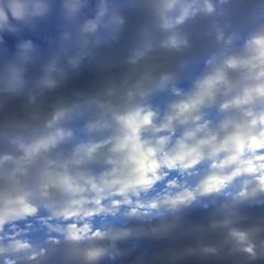今日の空/夕焼け景色/夕暮れ/夕暮れ時 日没 19:13 夕暮れ時 雲が広がり …(2枚目)