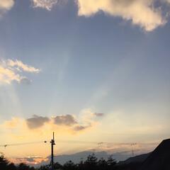 いま空/今日の夕焼け/定位置観測/夕暮れ風景/夕焼け大好き 日没 16:52 今日も一日お疲れ様でした