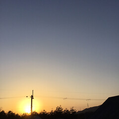 今日の夕焼け/いま空/定位置観察/夕焼け大好き/夕暮れ風景 日没 17:11 今日も一日お疲れ様でし…