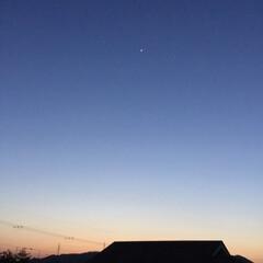 夕暮れ/夕暮れの景色/夕焼け大好き 群青の空に星 消えゆく夕焼け 明日も晴れ