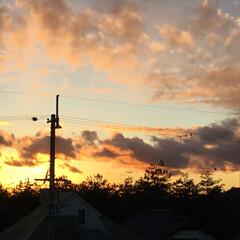 定位置観測/いま空/今日の夕焼け/夕暮れ風景/夕焼け大好き 日没 16:51 今日も一日お疲れ様でし…