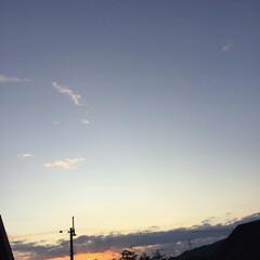 いま空/夕暮れ風景/夕焼け大好き/定点観測 日没 16:55 今日も一日お疲れ様でし…(2枚目)