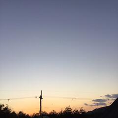 いま空/定位置観測/夕焼け大好き/夕暮れ風景/今日の夕焼け 日没 16:56 今日も一日お疲れ様でした