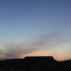 日没/夕暮れ時/夕暮れの景色 日没 18:22 陽が落ちて...宵闇 …