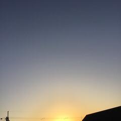 いま空/夕暮れ風景/夕焼け大好き/今日の夕焼け 日没 17:42 今日も一日お疲れ様でし…