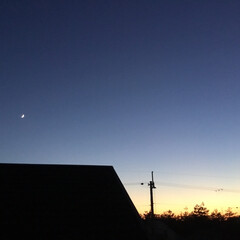 いま空/今日の夕焼け/夕暮れ風景/夕焼け大好き 日没 17:18 今日も一日お疲れ様でし…